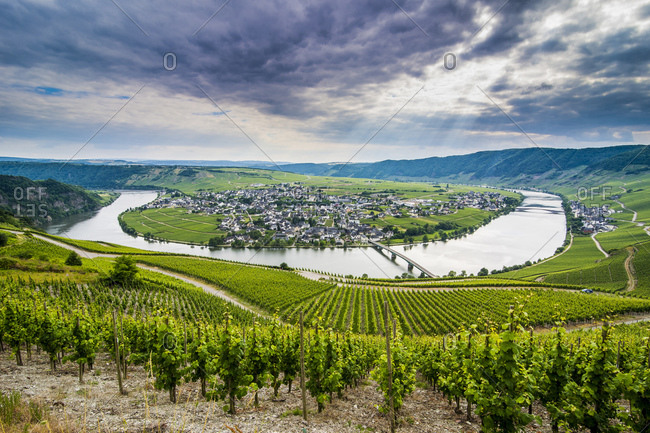 River bend at Minheim, Moselle valley
