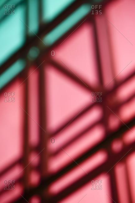 Blurred glass architecture