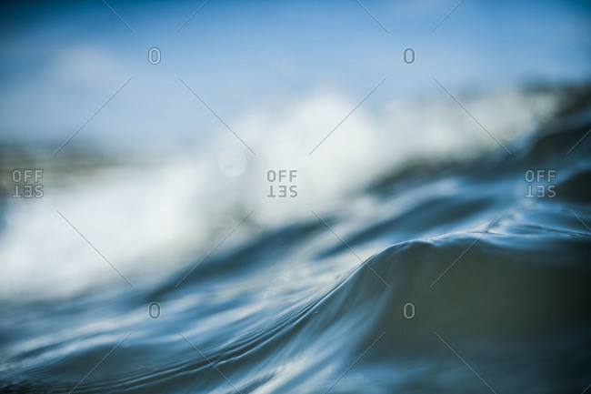 Close up of an ocean wave
