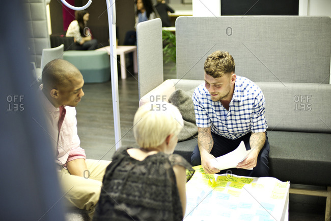 Young businesspeople in casual meeting