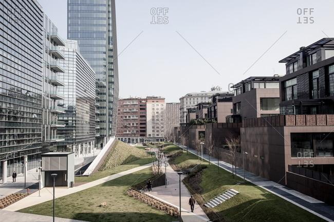 Milan, Italy - March 23, 2015: Porta Nuova