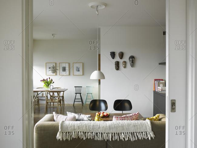 A clean, modern living room, Sweden