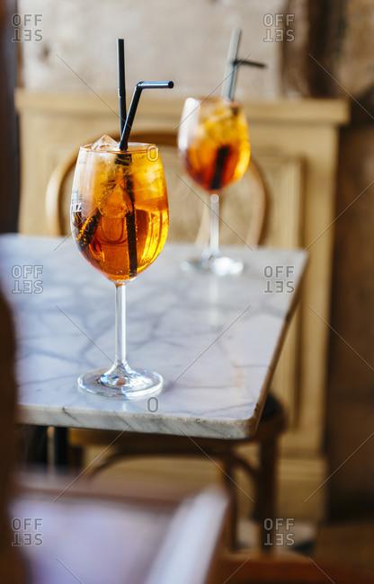 Spritz, traditional Italian cocktail - Offset
