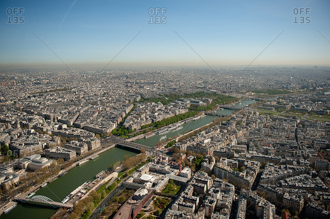 River Seine running through Paris cityscape