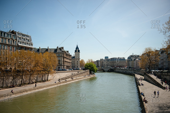Quays along the River Seine in Paris