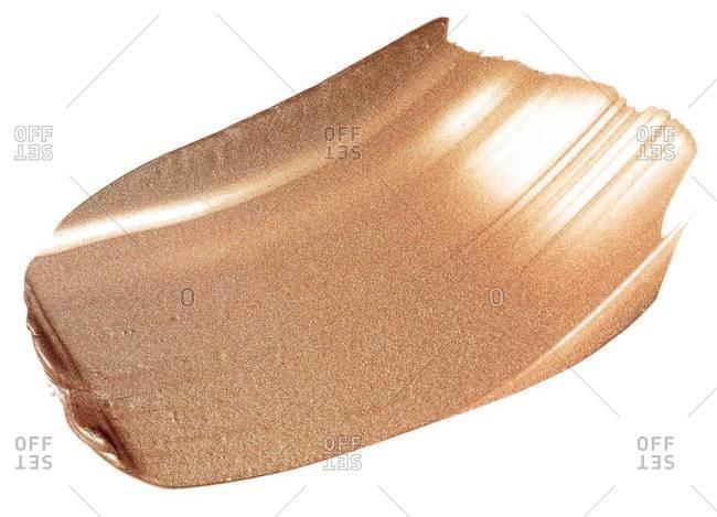 A smear of nude foundation