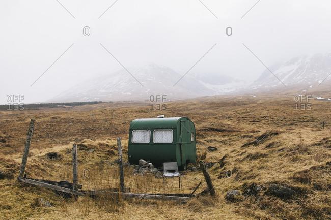 Caravan beside Bridge of Orchy