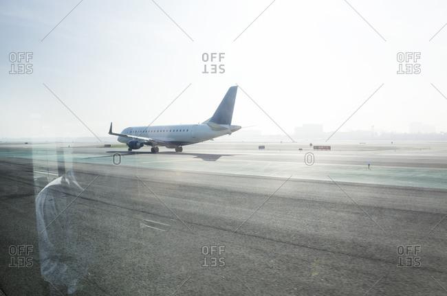 An airplane on the tarmac