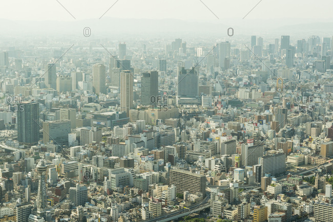 May 10, 2015: Cityscape of Japanese city at day
