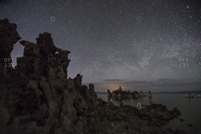 The Milky Way drifts over California's famous Mono Lake