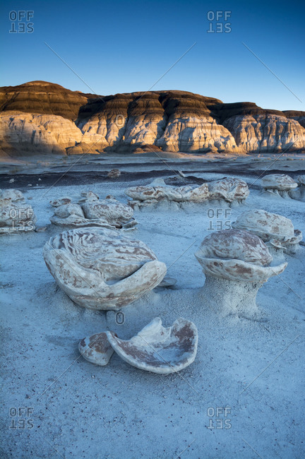Cracked Eggs formation at sunset, Bisti Badlands, Farmington, New Mexico