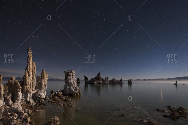 Nighttime at the South Tufa, Mono Lake, California