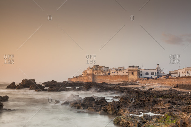 View of the old city (La Medina) of Essaouira from the harbor