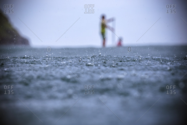 SUP surfing in Lombok island, Indonesia