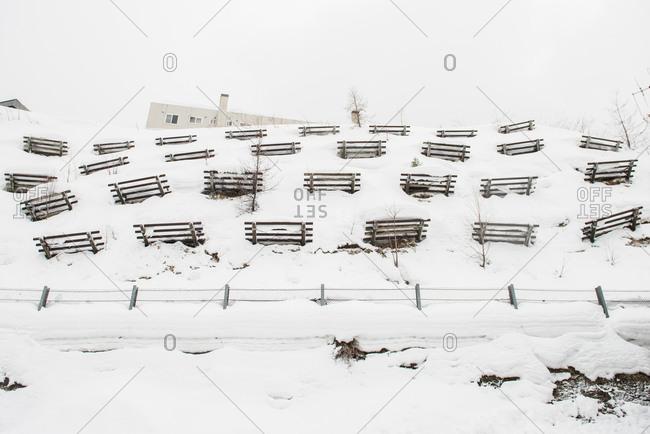 Avalanche prevention in Sakaimachi, Japan