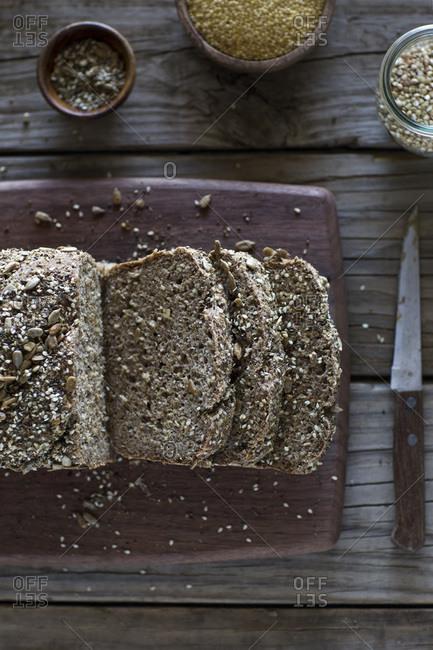 Slices of millet bread