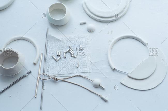 White object in a ceramicist's studio