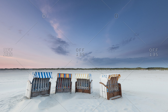 Beach chairs on the beach