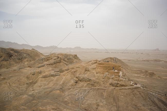 View from Zoroastrian towers of silence, Yazd, Iran