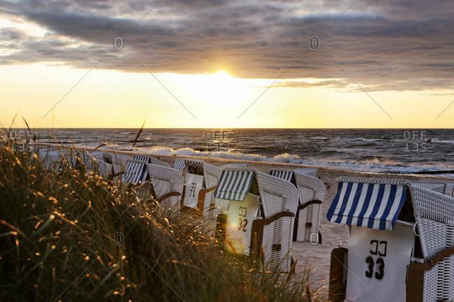 Baltic Sea Beach in Kuhlungsborn West, Mecklenburg-Western Pomerania, Germany