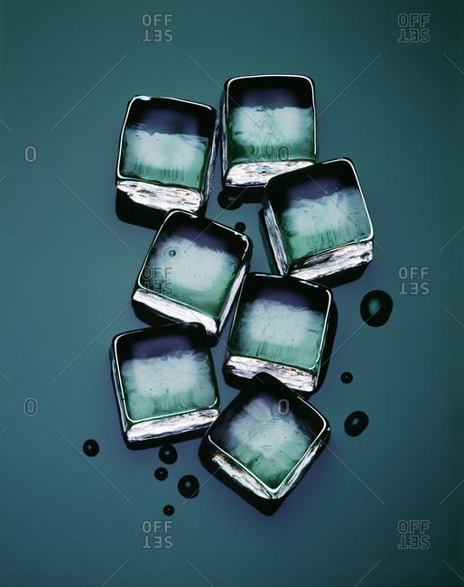 Studio shot of ice cubes