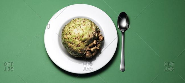 Celeriac on a soup plate