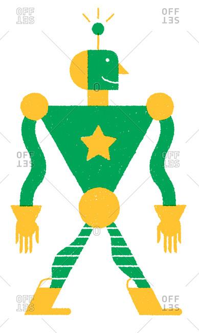 Illustration of a green robot
