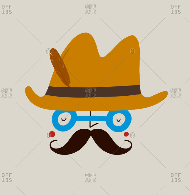 Man with a moustache in a hat