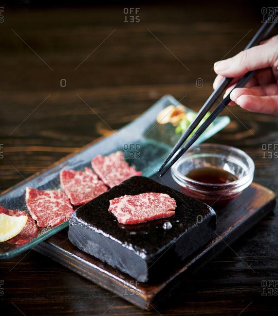 Raw beef wagyu
