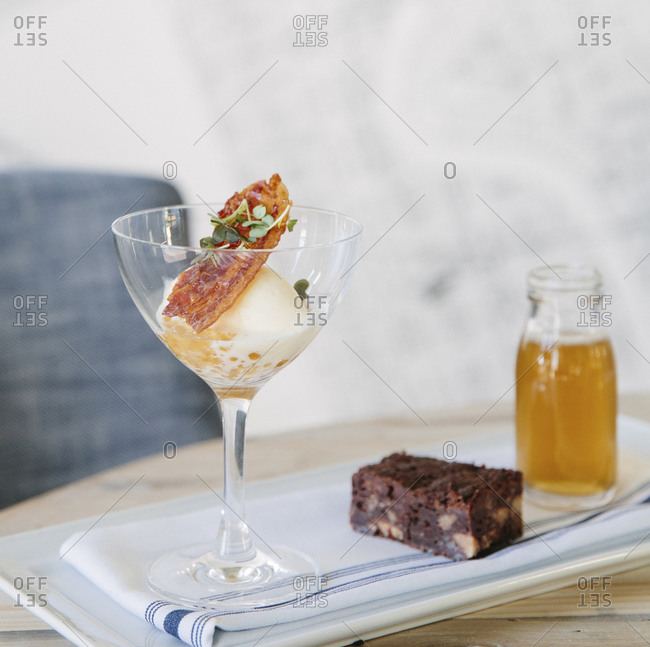 A beer float with bacon