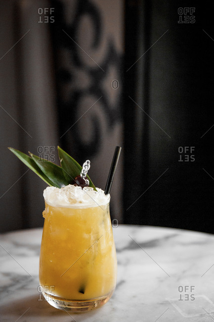 A rum cocktail