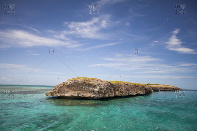 A small island at the tip western of Cayo Paredón Grande, near the Faro Diego Velazquez Lighthouse, Cuba