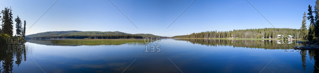 Panorama of Lac Le Jeune Lake, Kamloops, BC, Canada