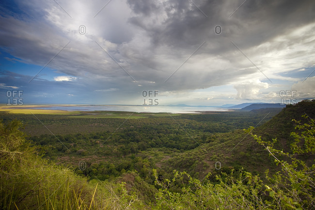 Landscape around Lake Manyara National Park, Tanzania