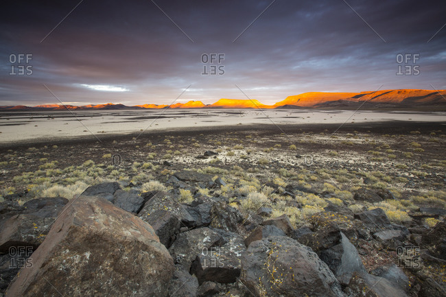 Sunset over Lunar Lake Playa, remote central Nevada