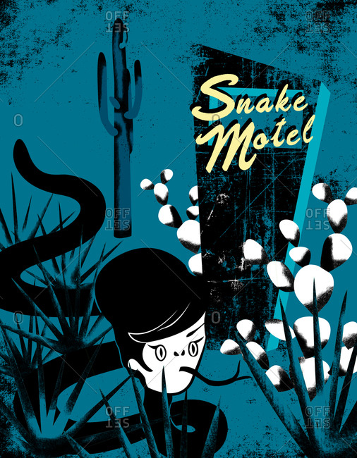 Illustration of a snake motel