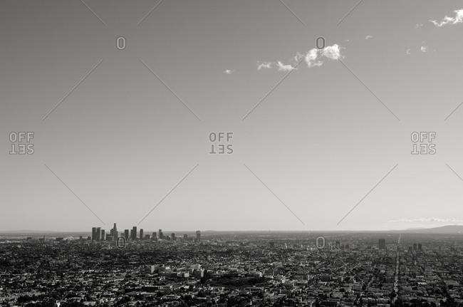 Cityscape of Los Angeles, California