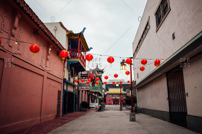 Februrary 6, 2014: Lanterns in Old Chinatown, Los Angeles