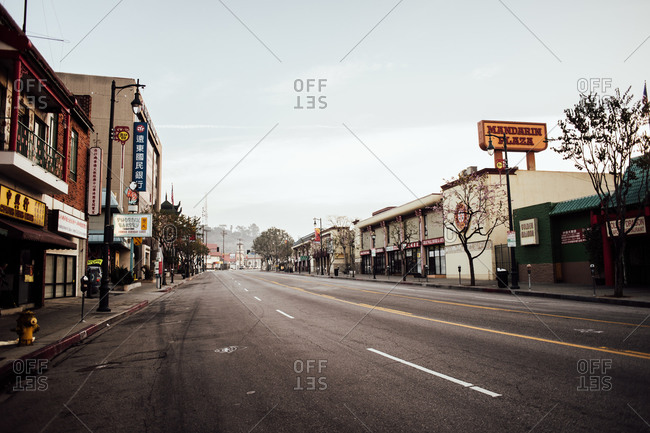 Februrary 7, 2014: N Broadway in old Chinatown, Los Angeles, CA, USA