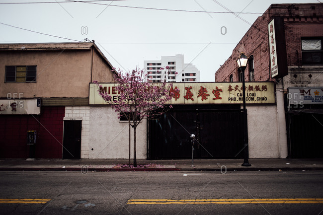 Februrary 9, 2014: Restaurant in old Chinatown, Los Angeles, California