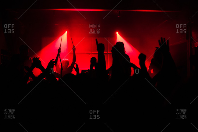Rock concert in a night club