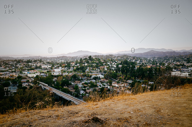 Cityscape from a hillside