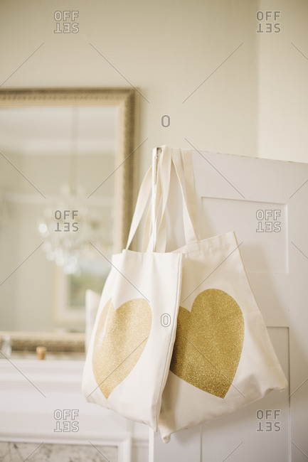 Tote bags at a wedding