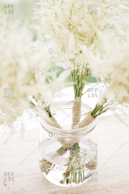 Small bouquets at a wedding