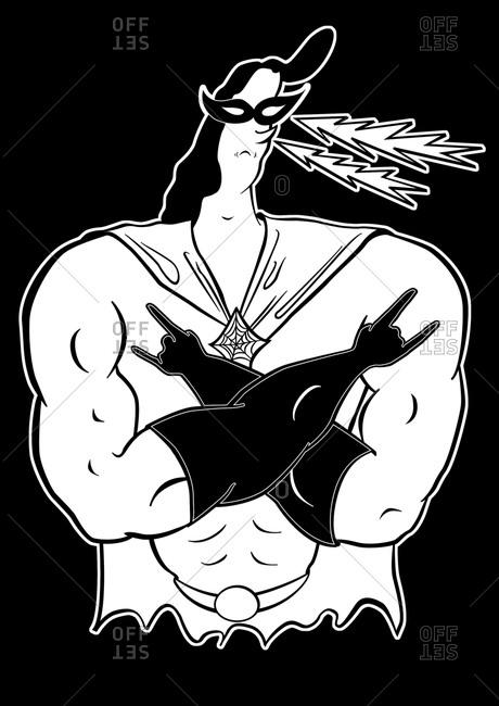 Illustration of a superhero