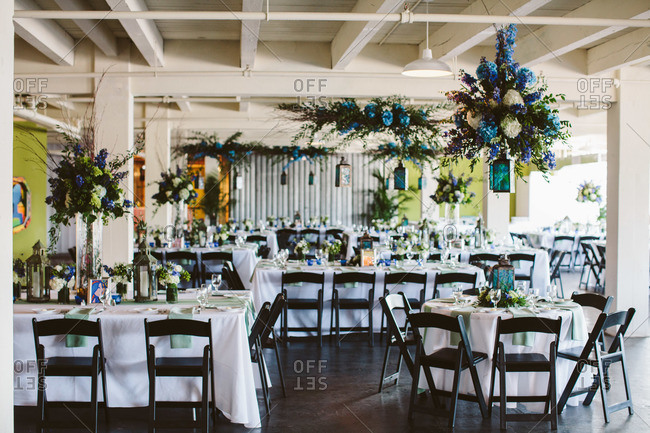 Tables and wedding reception decor
