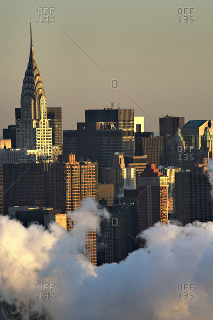 Cityscape with the Chrysler Building in Manhattan, New York City