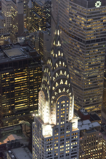New York City, NY, USA - December 31, 2011: The Chrysler Building in Manhattan, New York City