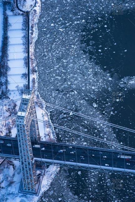 George Washington Bridge across Hudson River, NYC, USA