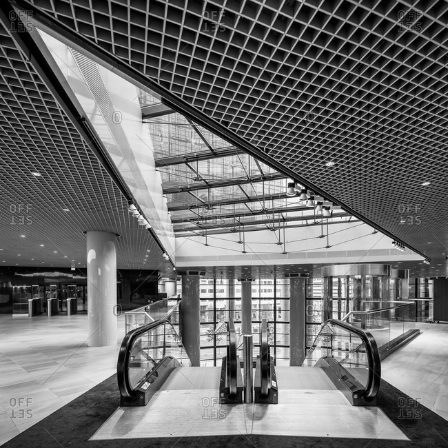 Rotterdam, Netherlands - May 27, 2015: Interior of Delfse Poort